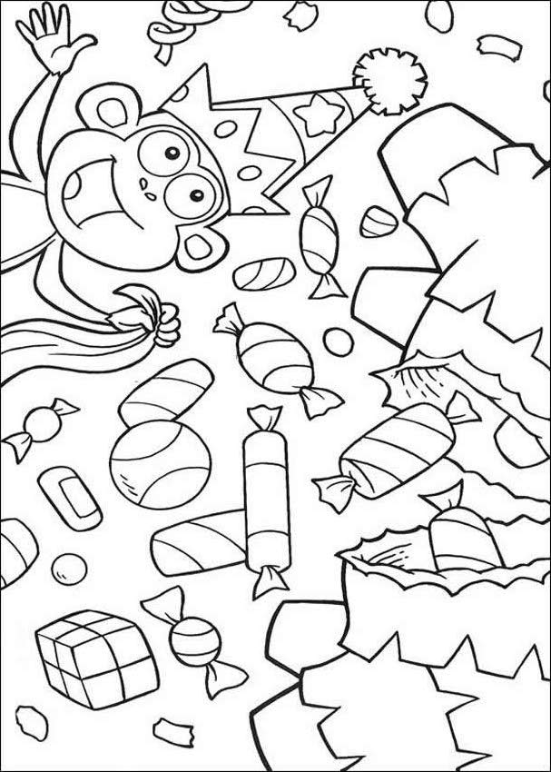 Boots The Monkey Coloring Pages